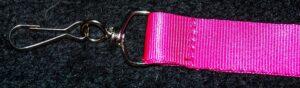 Pink Lanyard Clip