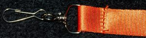 Orange Lanyard Clip